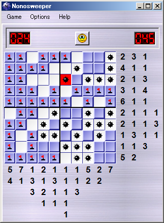A completely different way to play Minesweeper - using Nonograms!